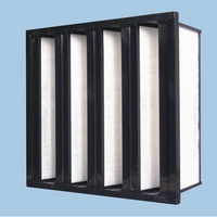 V Shape Panel Filter Without Clapboard